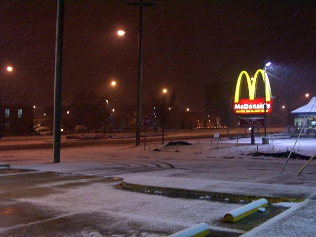 McDonalds in Winter