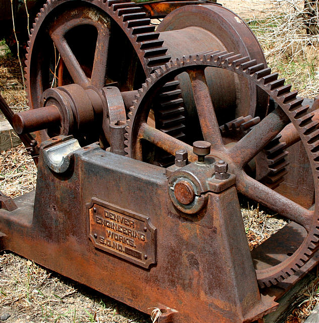 Mining Challenges: Old Mining Equipment In Mountains West Of Denver. By