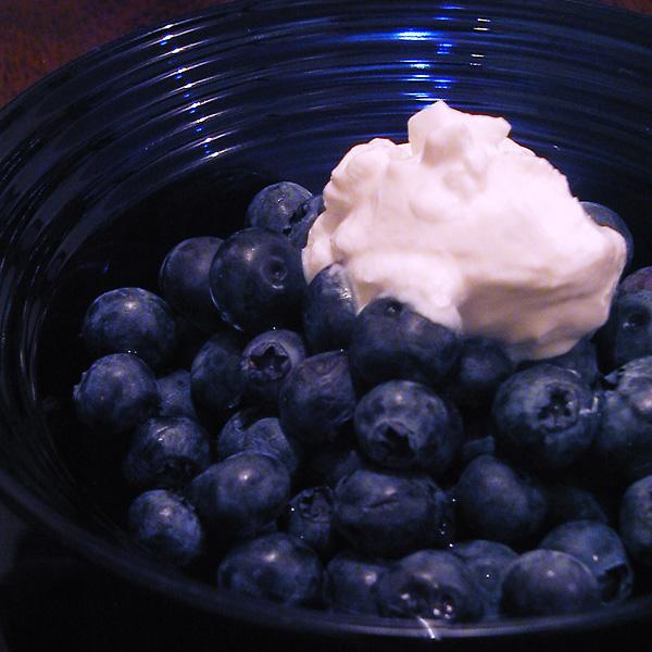 Blueberries & Sour Cream