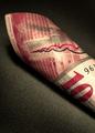 schweizerische nationalbank zehn franken [found in a loaner corolla]