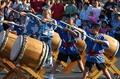 Lines of drum sticks
