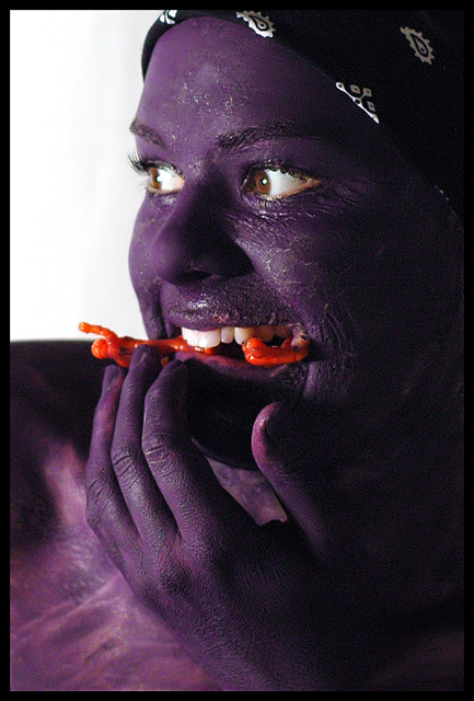 Purple People Eater (a colorful self-portrait)