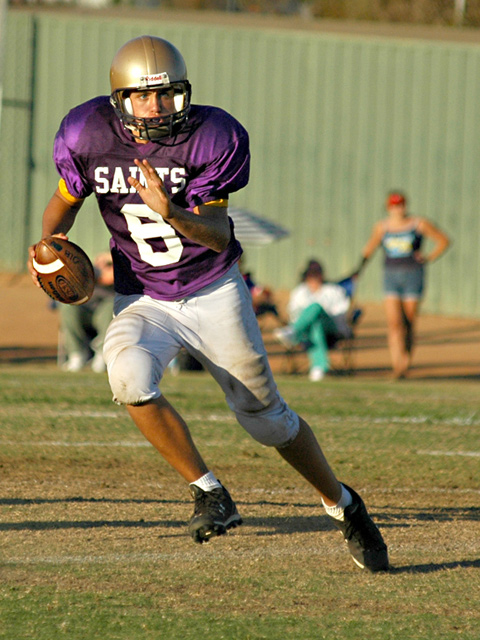 Saints Football - Purple & Gold