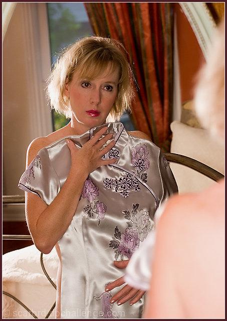 Reflections on a Purple Dress