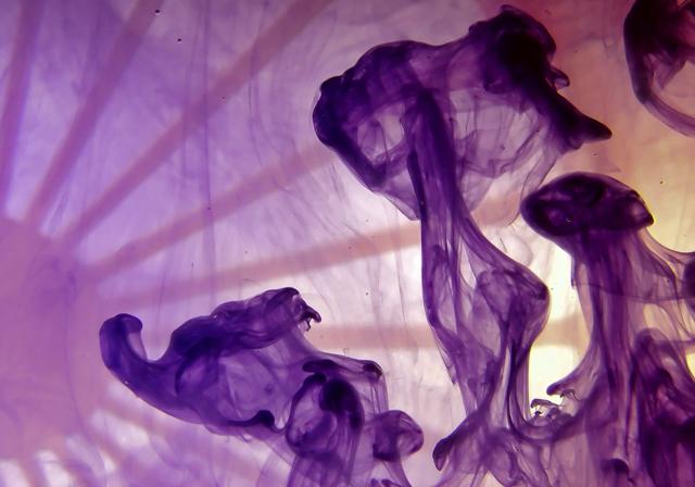 Shapes of Purple Paint