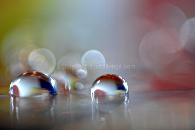 multicoloured raindrops...