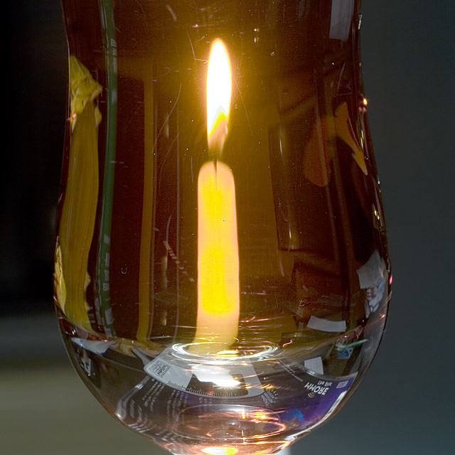 Candle in amaretto
