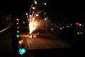 Fireworks on the dock.