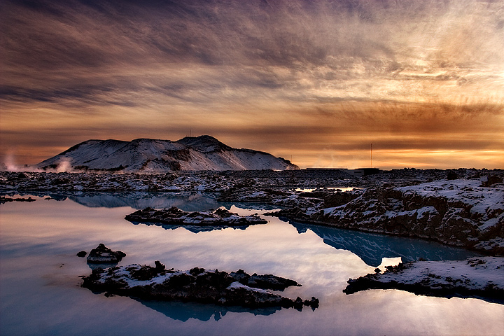 Sunset by the Blue Lagoon