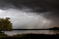 Lightning across the lake