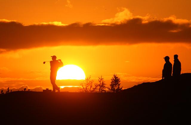 Arctic golfing
