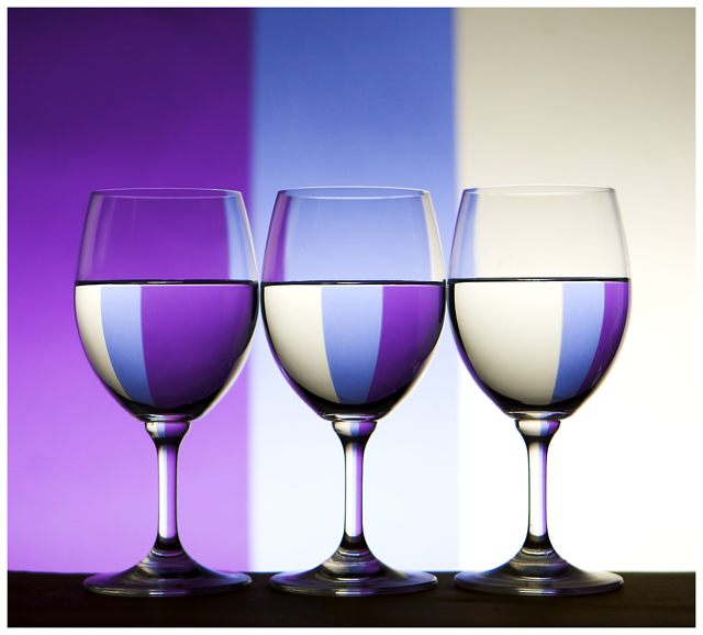 Triple Glass Refraction