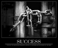 Succes - The key to success remains locked if certain gates stand in the way
