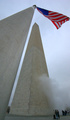 Washington Monument: 170 meters tall...But the flag stands taller