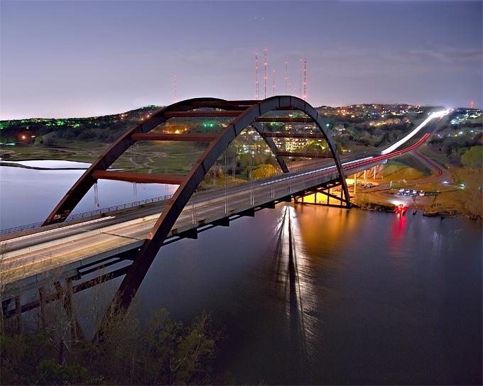 Pennybacker Bridge spanning Lake Austin