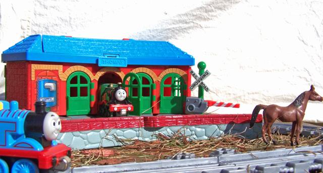 trainyard in toyville