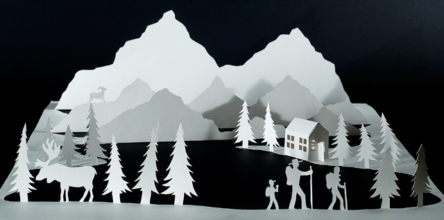 Как сделать снежную гору из бумаги