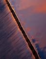 Spillway at sunset