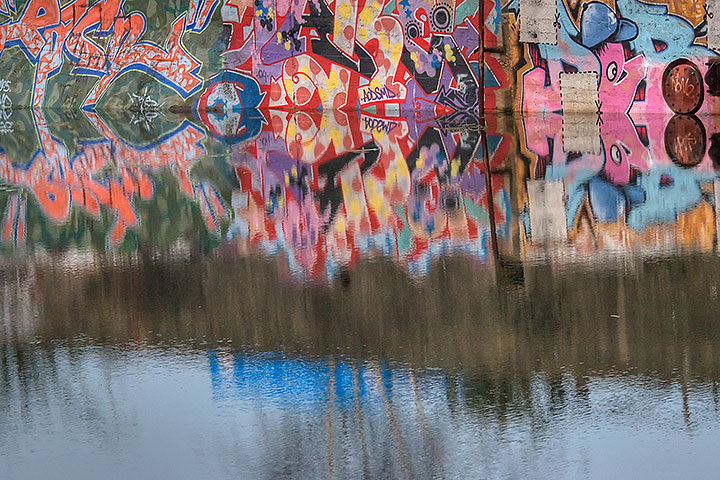 Graffiti and reflection