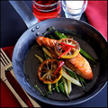 314 Calories: Oven Baked Tasmanian Salmon, Butter Bean & Thyme Salad with Lemon Chilli Jus