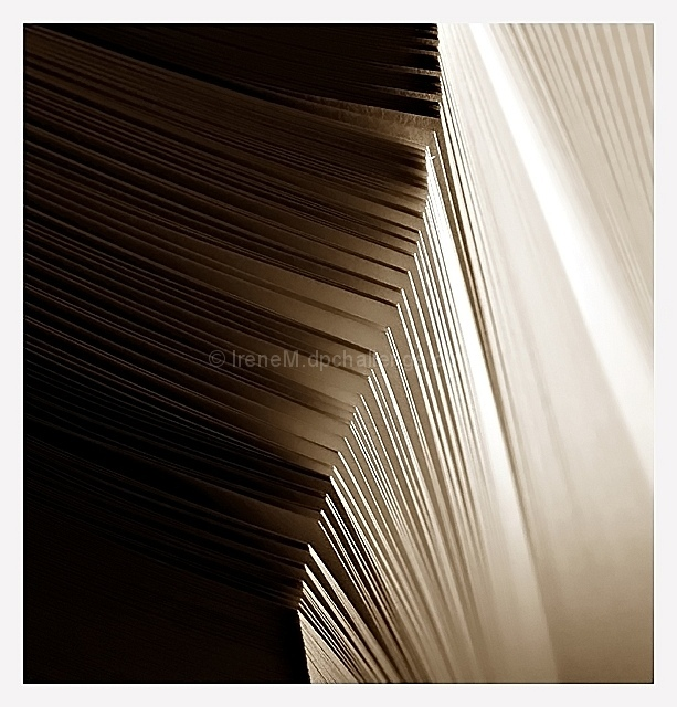 Shadows on pages