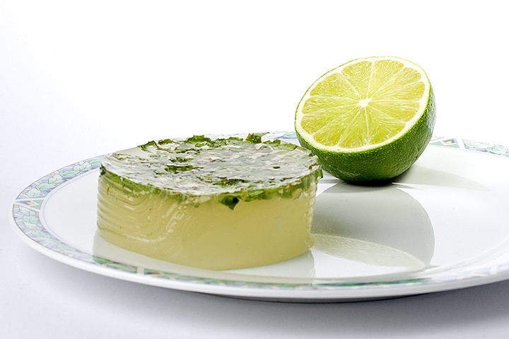 Lime jelly with basil