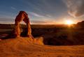 Sundown at Delicate Arch