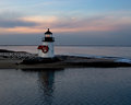 Nantucket's Brant Point at Sunset