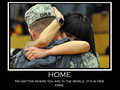 Home: No matter where you are in the world, it's in Her arms.