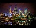 Melbourne - Fed Square Lights on Yarra