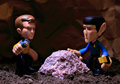 Great moments in Sci-Fi #21:  Mr Spock mind-melds with the Horta