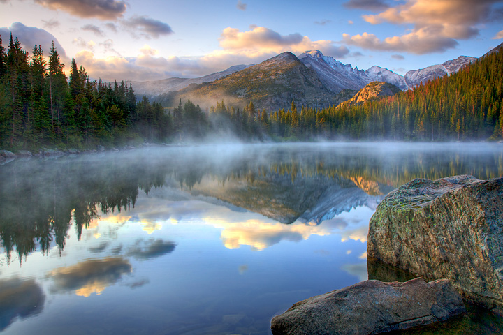 Lake Fog at Sunrise