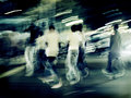 shufflin' thru the street