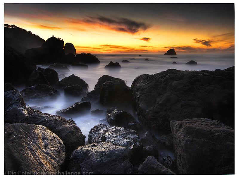 Miles Rock Sunset