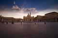 Papal Basilica against the fading sun