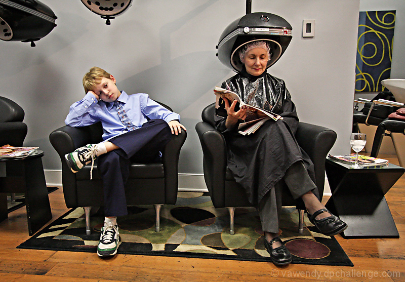At the salon