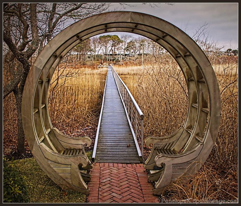 Marsh Land Board Walk Moon Gate By Pennyclick Dpchallenge
