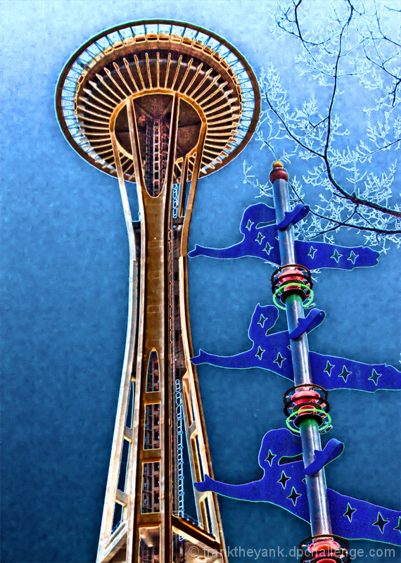 And now Ladies and Gentlemen,  we present the Space Needle