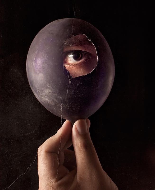 the eye like a strange balloon