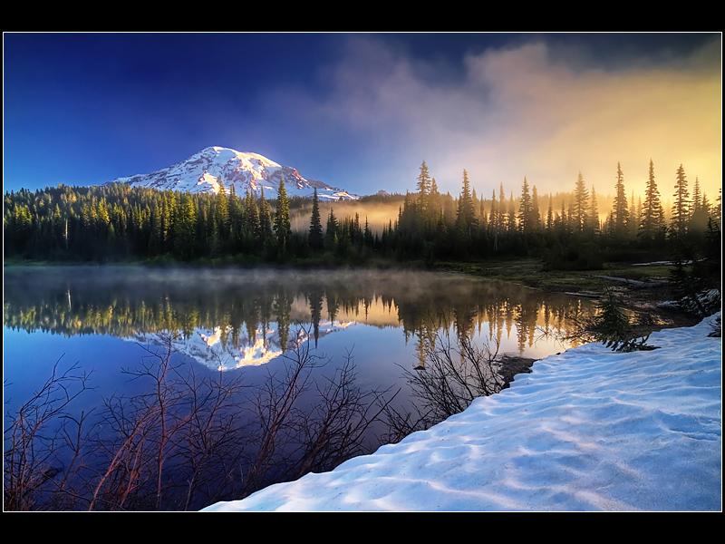 Misty Morning Lake - jaslee