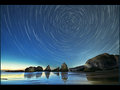Ocean side star trails