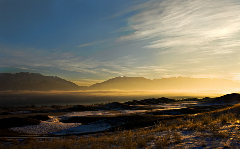 A Misty Morning Horizon
