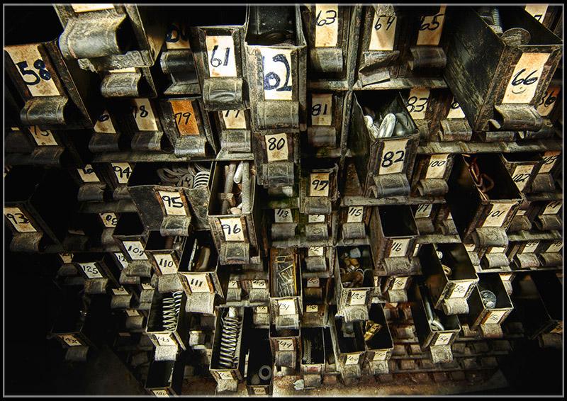 Grandpa's old parts cabinet