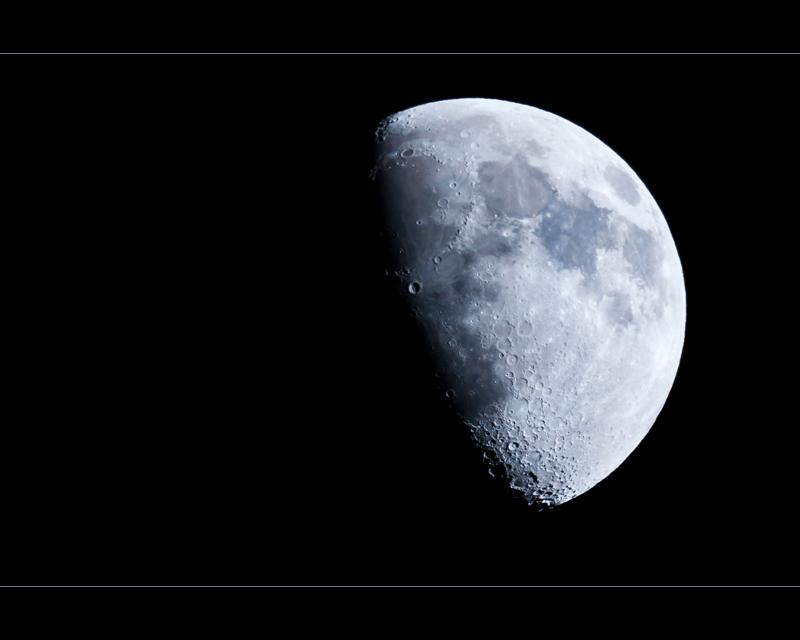 M-O-O-N spells Moon.