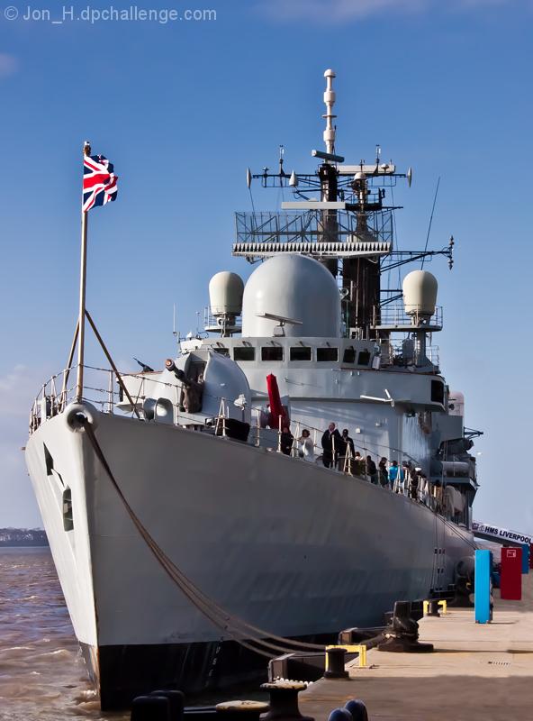 HMS Liverpool's Final Home Visit.