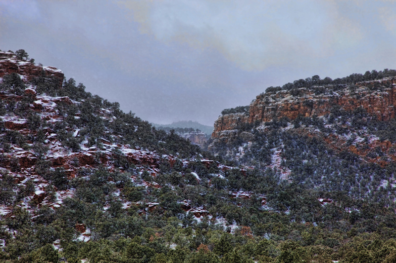 Red Canyon Snowstorm