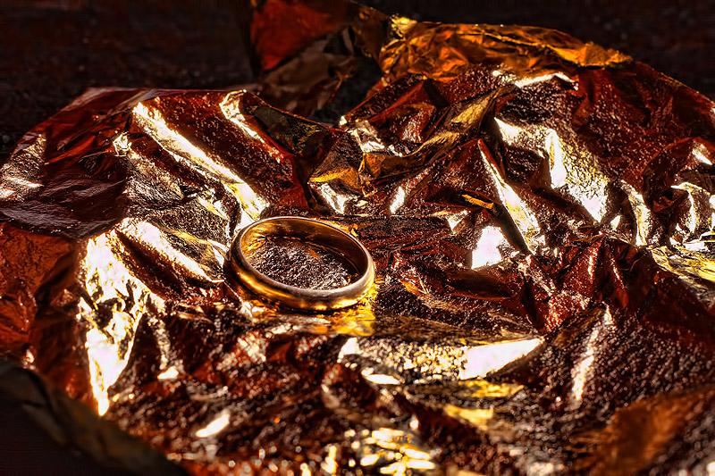 wedding ring and gilt
