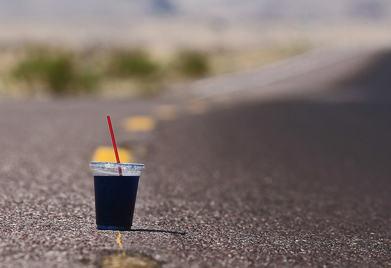 A cool drink on the road of life