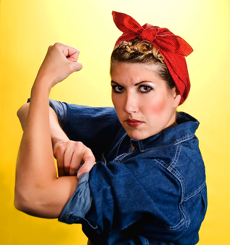 Peachy How To Do Rosie The Riveter Hairstyle 20007 Rosie The Riv Short Hairstyles For Black Women Fulllsitofus