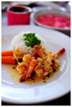 Saffron and Garlic Butter Prawns with Coconut Rice